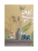 Pastoral Hand painted silk wallpaper modern painting lotus flower with fish hand painted wall paper many pictures optional