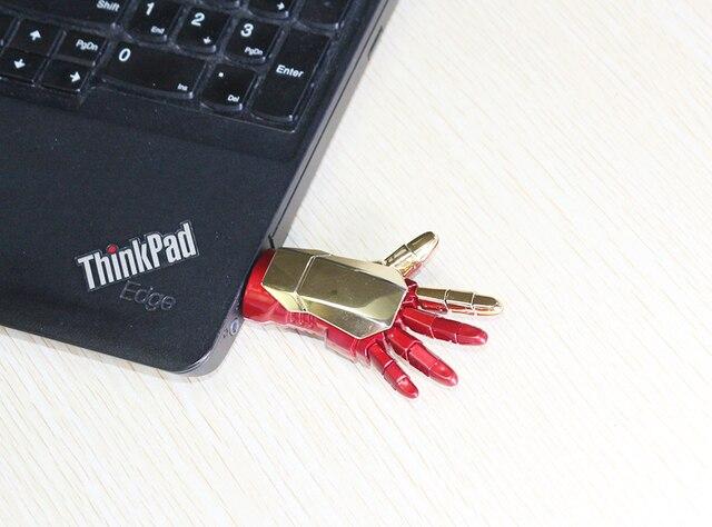 USB Флешка Железный человек 4ГБ, 8ГБ, 16 ГБ, 32ГБ, 64ГБ,