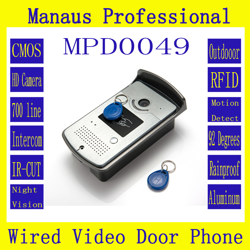 D49b High Quality Wired Magnetic Lock RFID Video Door Phone,Outdoor Monitor Intercom Door Bell With Camera
