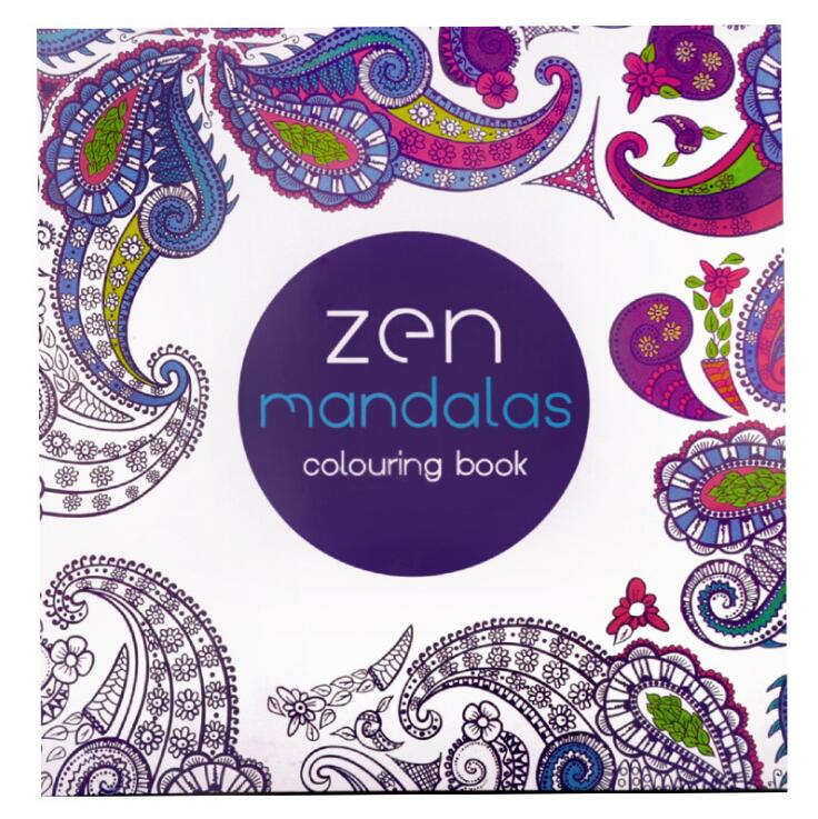 1 PC Zen Mandalas Coloring Books 128 Pages 21cm*21cm Relieve Stress Graffiti Painting Drawing Secret Garden Art Colouring books