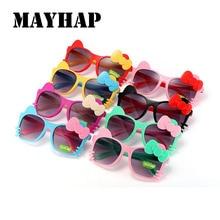 Фотография MAYHAP Lovely Sunglasses Girls Boys Brand Design 2017 Bow Tie Child Sun Glasses Cute Baby Anti-uv Baby Glasses Lunettes