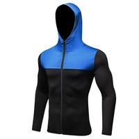 2019 Men's Running Jacket Jogging Cycling Sportswear Gym Training Fitness Exercise Jacket Hoodie Pocket Long Sleeve Sportswear