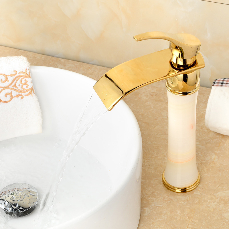 Basin Faucet Elegant Black Oil Jade and Brass Sink Mixer Tap Deck Mounted Water Tap Hot Cold Crane Unique design Tap TorneiraBasin Faucet Elegant Black Oil Jade and Brass Sink Mixer Tap Deck Mounted Water Tap Hot Cold Crane Unique design Tap Torneira