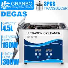 Digital Ultrasonic Cleaner Portable Bath 4.5L 180W 110/220V with DEGAS Heater Dental Clinic Nail Surgical Tools Chains Parts цена и фото