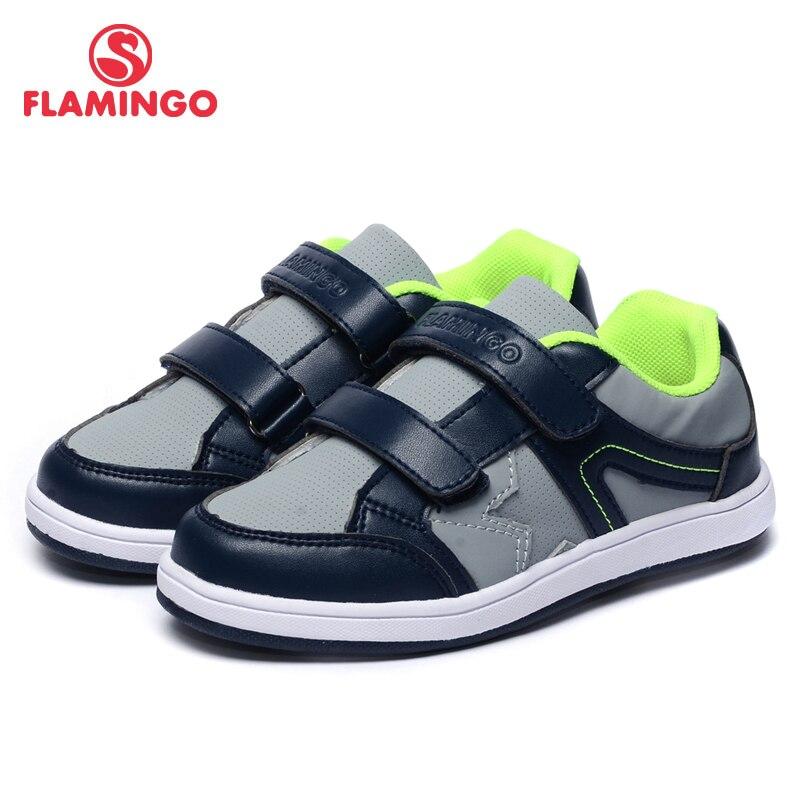 FLAMINGO Marque En Cuir Semelles LED Printemps et D'été Enfants Chaussures de Marche Taille 23-28 Enfants Sneaker 91K-SM-1239/91K-SM-1240