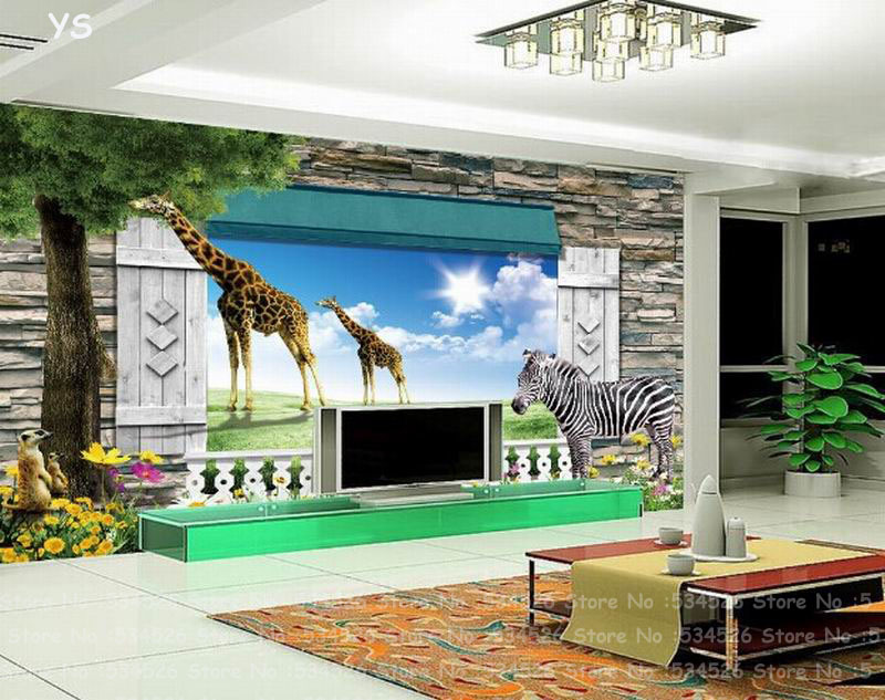 Popular kids room wall tapet 3d buy cheap kids room wall for Wandtapete 3d