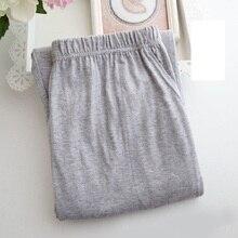 Men new fashion Pajama pants cotton thin loose casual size nightgown trousers high waist lounge sleepwear sleepdress