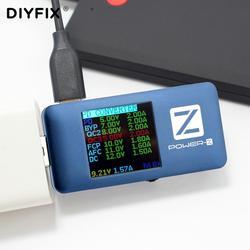 Power z FL001 USB PD Tester type c PD QC 3.0 2.0 szybka ładowarka napięcie prądu tętnienia Dual type c woltomierz Power Bank detektor w Zestawy narzędzi ręcznych od Narzędzia na