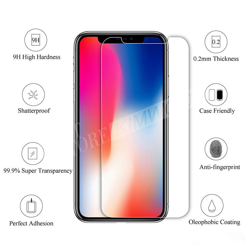 9H Screen Protector For NEW Iphone XR XS Max Iphone X/10 8 7 6 6S Plus Top Quality Tempered Glass Film 2.5D Full covor Film