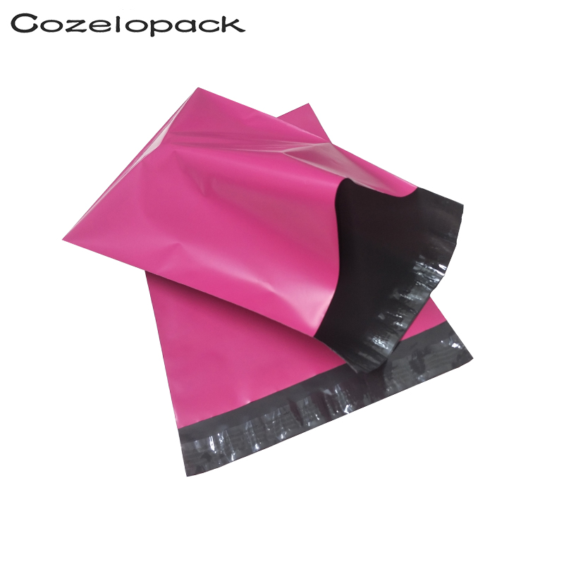 50pcs Pink Poly Mailer Self Adhesive Post Mailing Package Mailer Glue Seal Postal Bag Gift Bags Courier Storage Shipping Bags