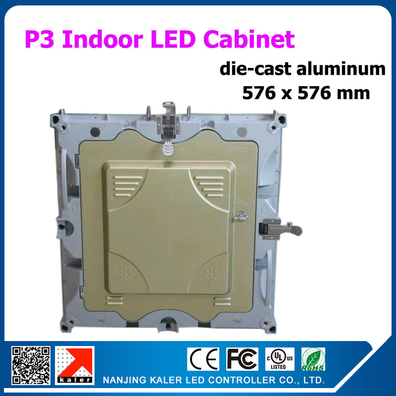 TEEHO High Resolution P3 576x576mm Rental Indoor Led Display Wall For Video Animation Text Led Display Board With Receiving Card
