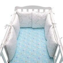 6 шт./лот детская кроватка бампер кровать юрта рельс протектор кроватки Прокладка Бампер Подушка для кормления Детская комната Декор кроватка бампер детское постельное белье