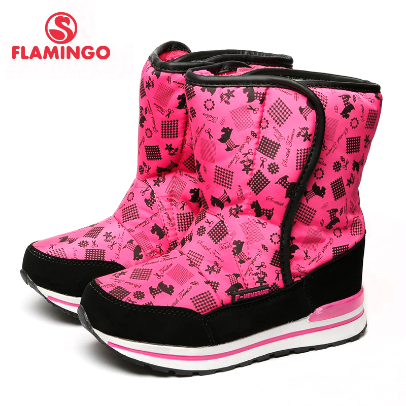 FLAMINGO 2017 new collection winter fashion snow boots with wool high quality anti-slip kids shoes for girl 72M-YC-0430/ 0431 flamingo 2017 new collection winter fashion snow boots with wool high quality anti slip kids shoes for girl 72m yc 0430 0431