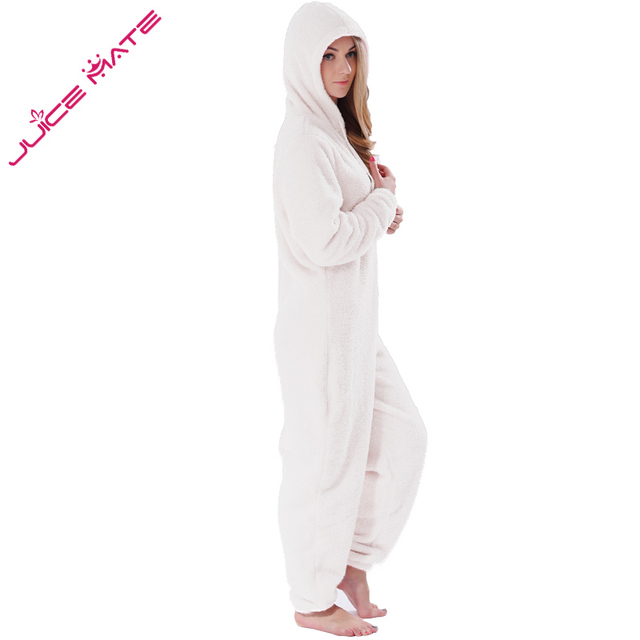 Onesies Fluffy Fleece Jumpsuits Sleepwear