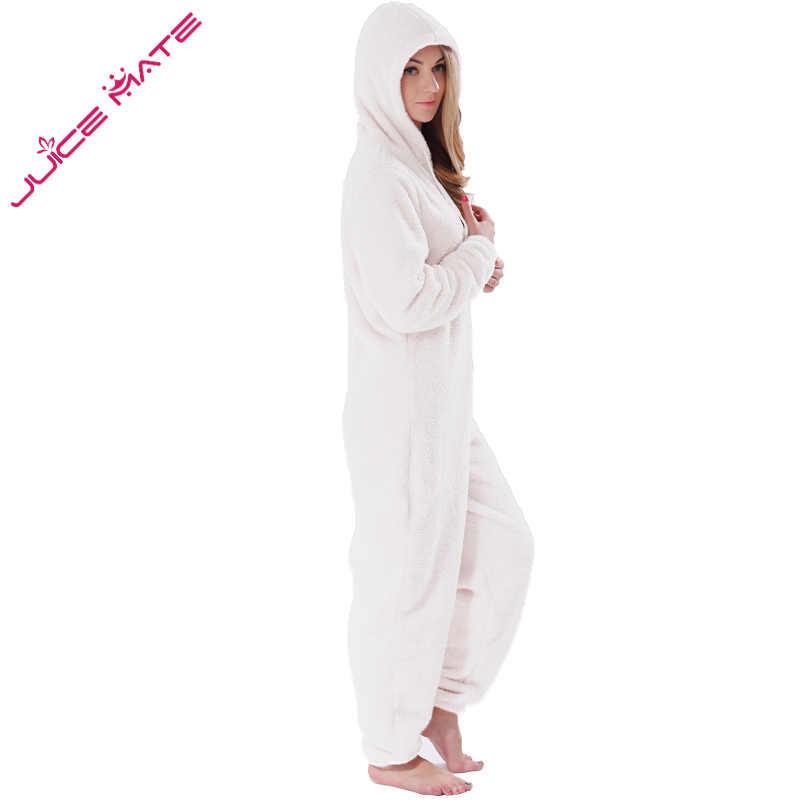 50335ceb7f ... Winter Warm Pyjamas Women Onesies Fluffy Fleece Jumpsuits Sleepwear  Overall Plus Size Hood Sets Pajamas Onesie ...