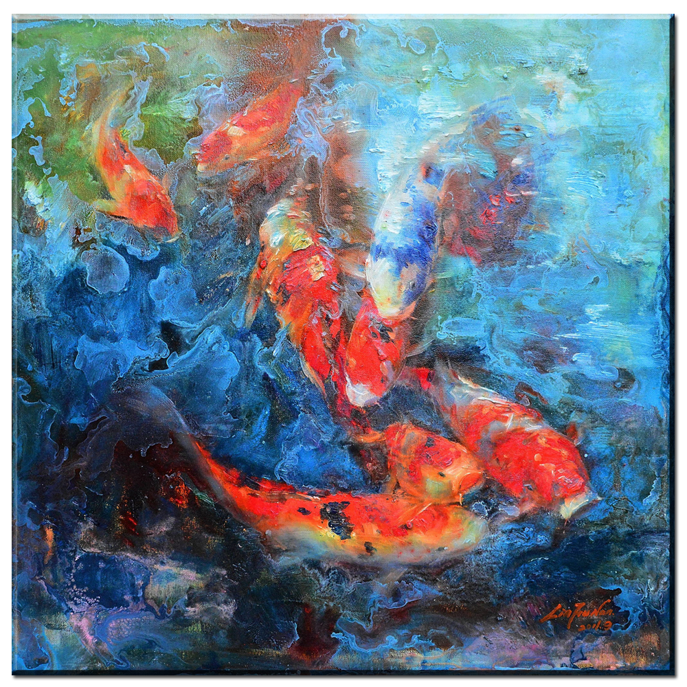 Canvas Painting modern abstract canvas art koi fish Canvas ...