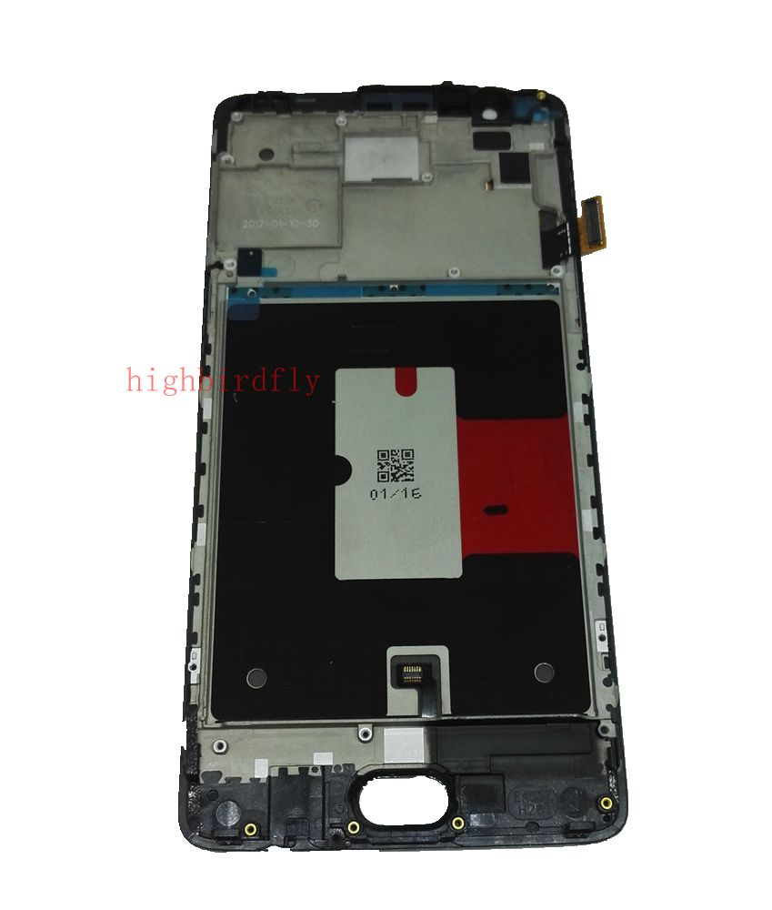 Super Amoled Für <font><b>Oneplus</b></font> 3/3 t <font><b>A3003</b></font> A3000 Lcd Display + Touch Glas Digitizer + Frame Assembly ersatz bildschirm image