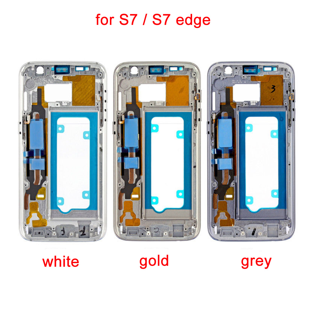 LCD Middle Back Frame Chassis Plate Bezel Back Housing For Samsung Galaxy S7 G930F G930V  S7 edge G935F G935A Replacemenrt PartLCD Middle Back Frame Chassis Plate Bezel Back Housing For Samsung Galaxy S7 G930F G930V  S7 edge G935F G935A Replacemenrt Part