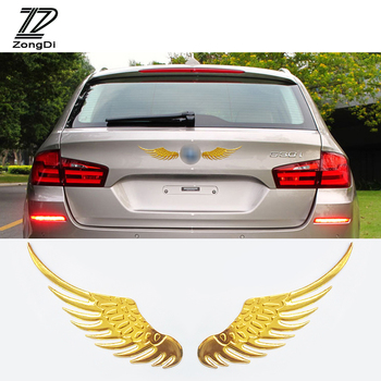 ZD 2X Car Stickers Metal 3D Wing Car-styling For Lada granta vesta Renault duster BMW e46 e39 e36 VW polo passat b6 Accessories image