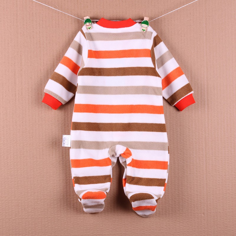 New Arrival Baby Footies Boys&Girls Jumpsuits Spring Autumn Clothes Warm Cotton Baby Footies Fleece Baby Clothing Free Shipping (32)