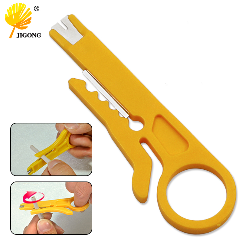 Rotary Punch Down Network UTP Cable Cutter Punch Down Wire Tool 9cm Mini Strippers STP Cable Cutter Telephone Wire Stripper