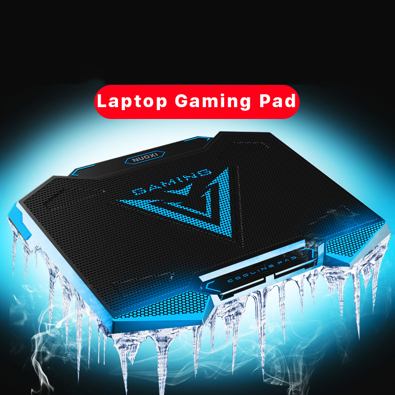 Laptop Cooler Pad With 5 Cooling fans 2 USB Port Back Light, Stand for 15.6 17.3 18 19 inch Notebook Gaming Speed +/- Adjustable coolcold iis cooling pad aluminum laptop cooler cooling pad stand 5 fans laptop notebook cooler usb port for macbook pro 17 inch