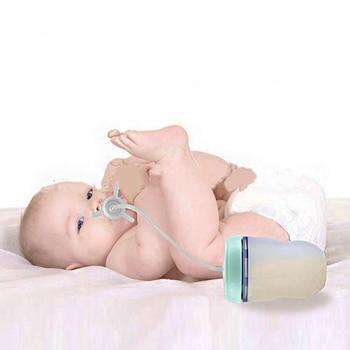250 مللي زجاجة رضاعة للأطفال الاطفال كأس سيليكون سيبي الأطفال التدريب لطيف الطفل شرب المياه القش زجاجة تستخدم في الرضاعة حر اليدين زجاجة