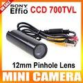 Genuína sony 960 h-e effio 700tvl à prova d' água micro videovigilância pequeno bala mini câmera de segurança cctv lente de 12mm
