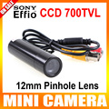 Genuine sony 960 h effio-e 700tvl impermeable micro video vigilancia small bullet mini cámara de seguridad cctv 12mm lente