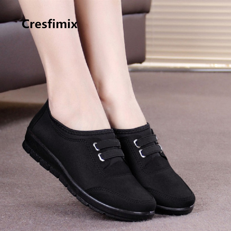 Lady Cute Casual Black Retro Ballet Dance Cloth Shoes Women Cool Wine Red Autumn Warm Shoes Women Sfot Comfortable Shoes E2971