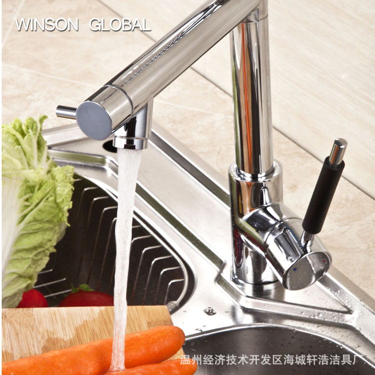 hot water faucet mixing tap copper spring sink double head telescopic tank taps vegetable tap washing basin faucets ICD60094
