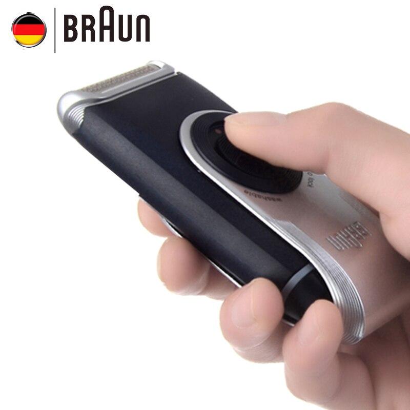 Braun Electric Shaver M60 Metallic silver Portable Washable Face Care Hair Mustache Razor Safety