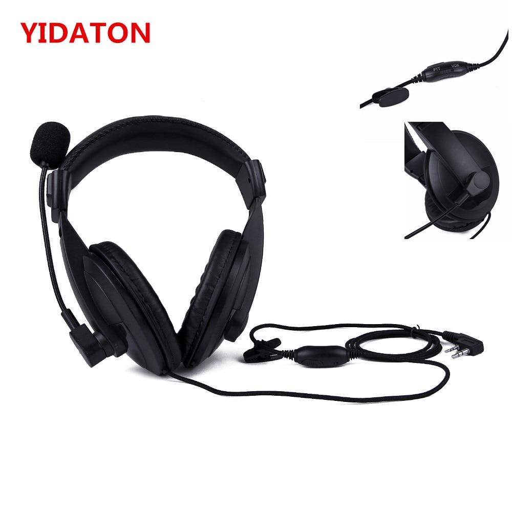 Baofeng Heavy Duty Headphones K With Double Earmuff Headset In Helmet PTT VOX Earpiece For Kenwood TK-3107 TK-3230, TK-3230XLS