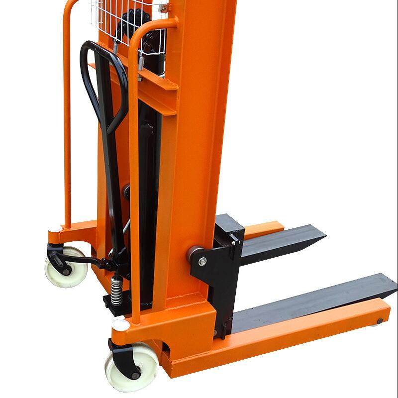 1 T Manual Hydraulic Increase Truck Stacker Stacker Forklift Lift Loading