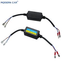 MODERN CAR 1pcs H1 H11 H4 H7 9005 9006 Led Canbus Decoder For LED Car Headlight Bulb H16 9007 Wiring Adapter DRL No Error Free