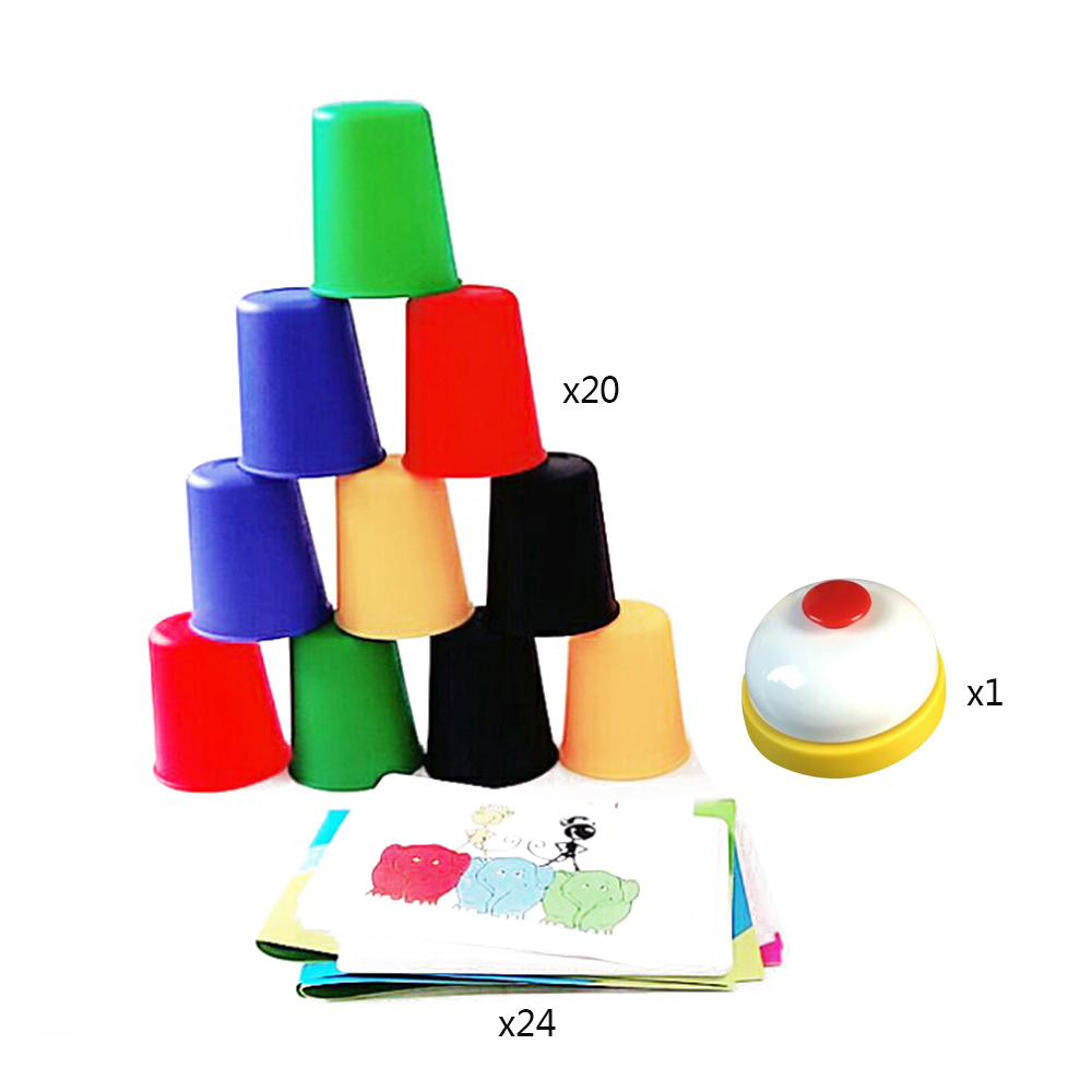 DIY Classic Card Games Speed Cups Cards Game Quick Hands Stacking Cup Family And Children Board Games Indoor Game
