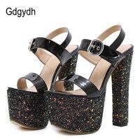 Gdgydh Sexy Bling Women Sandals Platform 2018 New Summer Females Extreme High Heels Platform Wedding Dress