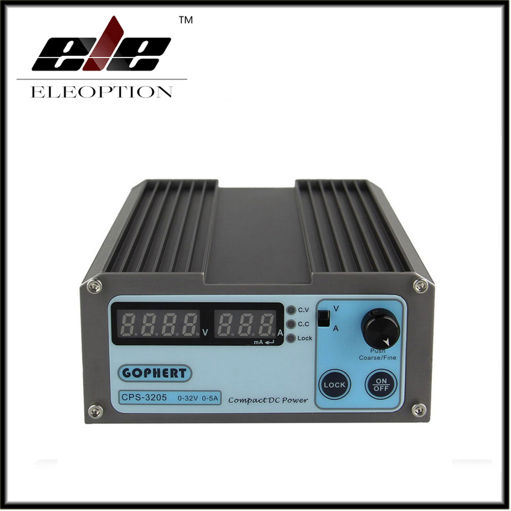 ФОТО Eleoption CPS-3205 5A 32V 160W Portable Adjustable mini DC Power Supply precision Compact Digital Adjustable OVP/OCP/OTP EU Plug