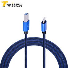 Twitch 1M USB Type C Braided Cloth Cable Charge Fast Data Sync Charger USB-C Cable For Huawei Xiaomi LG Nexus 5X,6P