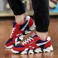 Nuevo de Las Mujeres de Los Hombres Zapatos Casuales Marca de Moda Suede Leather Lace Up Pisos Hombres Entrenadores Superestrella Canasta Femme Zapatos de Lona Respirables