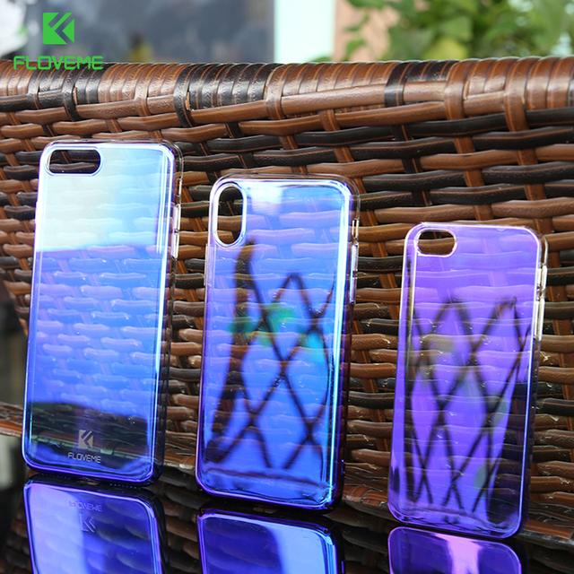 9eddb4dfe6a50e FLOVEME Blue Ray Phone Case For iPhone XR XS XSMax Luxury Hard PC ...
