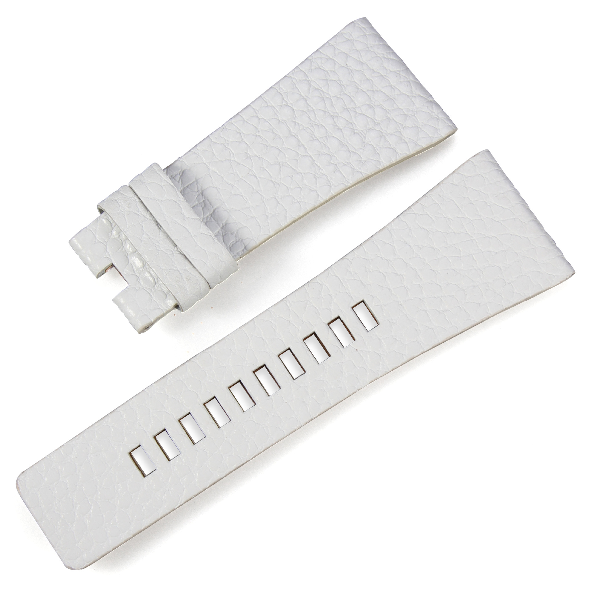 women men watchband litchi Texture white Genuine Leather Strap Suitable for DIESEL watch  24mm 26mm 28mm Brand Watch Accessories strap
