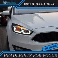 Автомобиль отдел свет для Ford Focus фар 2015 2017 DRL двойной луч фокус Глава лампы проектора