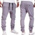 Pantalons Militaire Moda de Alta Qualidade dos homens casuais Hop Suor Calças Harem Dança Baggy Trousers