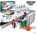 Cogo 14110 tren de transporte de carga plataforma 558 unids Building Block Sets Educational DIY juguetes de los ladrillos