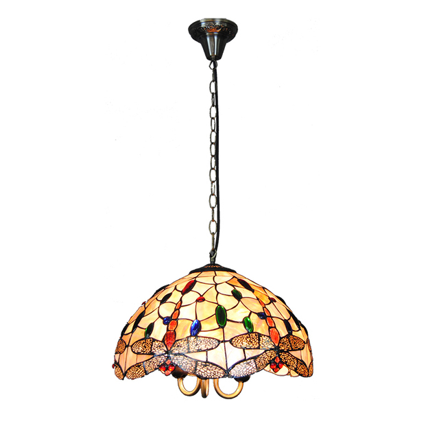 Fantastic Tiffany Chandelier Lighting Tiffanylampe Vintage Stained Glass  XS72