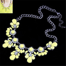 Lemon Value Statement Choker Vintage Charms Maxi Collar Colar Fashion Bijoux Crystal Pendant Necklace Women Jewelry Collier A453