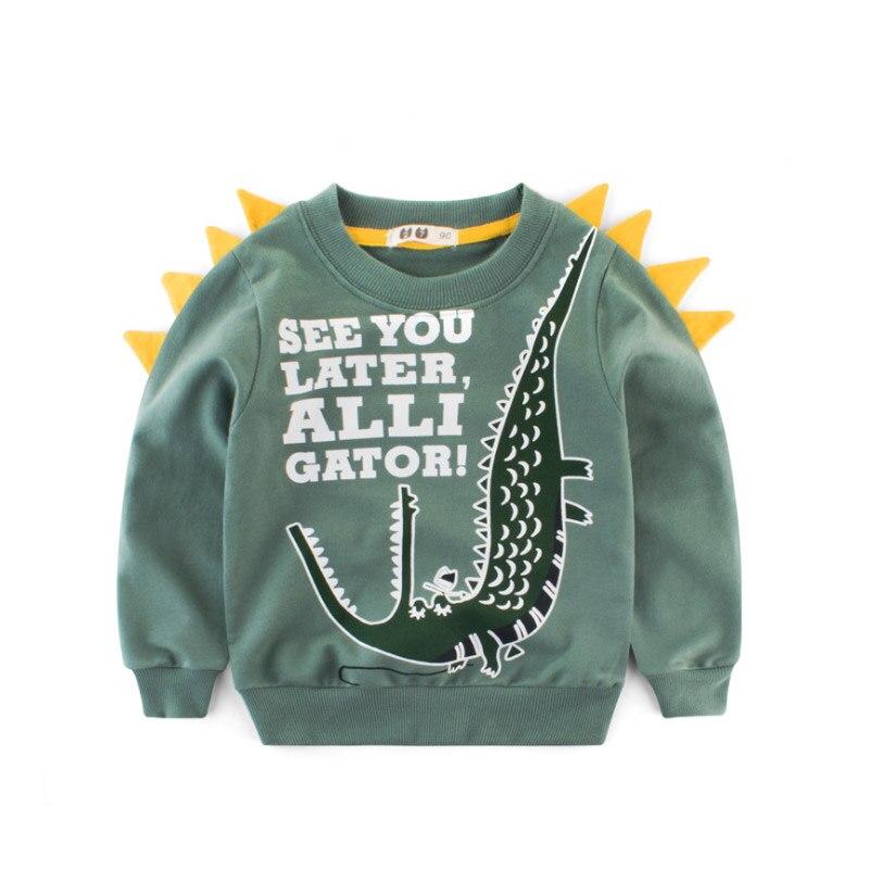 Girl Tops T-Shirts Dinosaurs Long-Sleeve Baby Boys Kids Children Cartoon