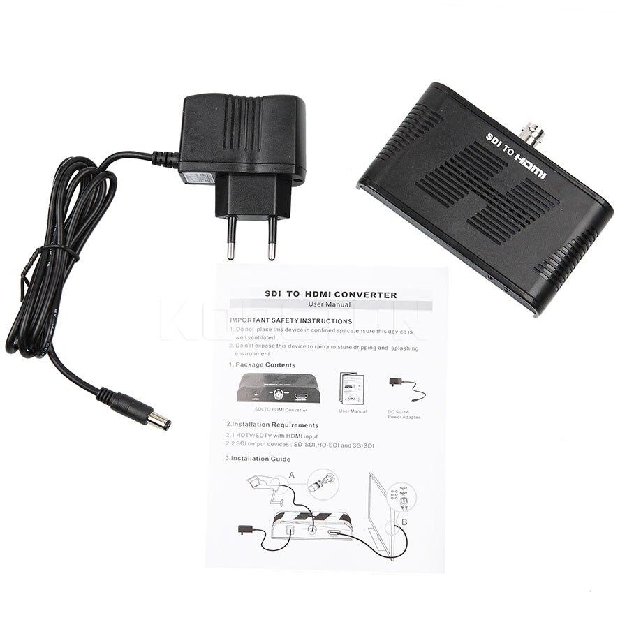 kebidu Converter SD-SDI HD-SDI 3G-SDI to HDMI Adapter 720p 1080p Supports SD-SDI and 3G-SDI Signals and Newest SDI to HDMI