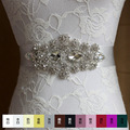 12 Colors Crystals Women Belts Handmade High Quality Rhinestones Wedding Belt Crystal Satin Tie Back Drop-water Large Rhinestone